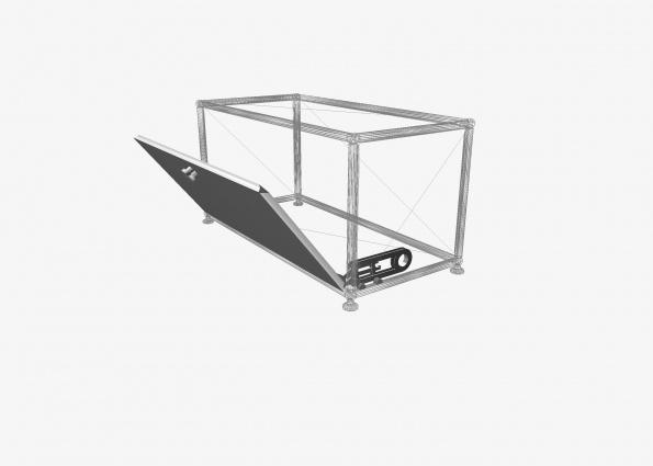 Porte abattante complète L750 x H350 à positionner dans la case de votre choix