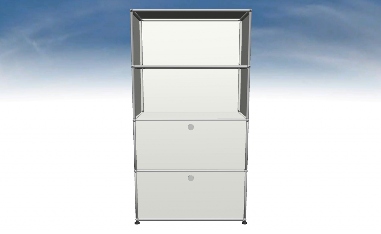 Decoburo mobilier usm haller en stock vente for Meuble 2 cases